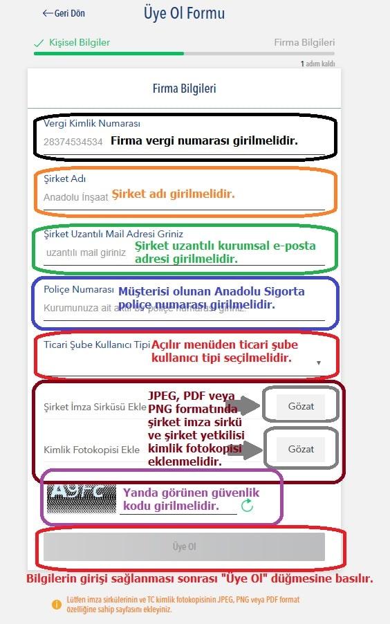 anadolu sigorta internetten kurumsal police goruntuleme